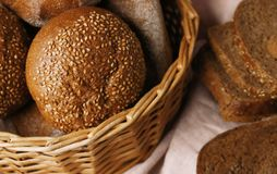 Delicious loaves of rye bread. Closeup Stock Photography