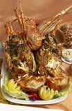 Delicious lobster. A grilled lobster ready to be served royalty free stock photography