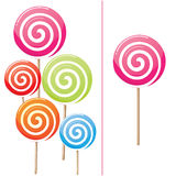 Delicious lollipop collection Royalty Free Stock Photos