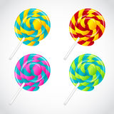 Delicious lollipop vector set Royalty Free Stock Images