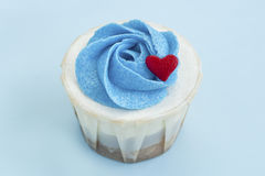 Delicious Love Cupcake Royalty Free Stock Images