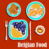 Delicious lunch of belgian cuisine Stock Photo