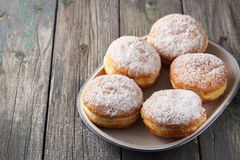Delicious lush donuts Royalty Free Stock Image