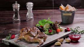 Delicious luxury dish. stock video footage