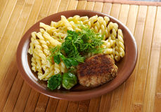 Delicious macaroni pasta Stock Images