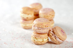 Delicious macarons Stock Photos