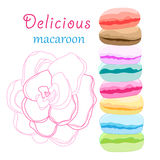 Delicious macaroon Stock Photo
