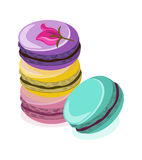 Delicious Macaroon colorful dessert Vector illustration Stock Images