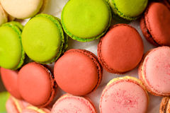 Delicious macaroons. Some colorful and delicious macaroons Stock Photo