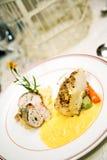 Delicious main course gourmet Stock Photography