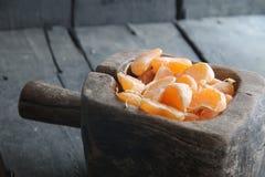 Delicious Mandarin citrus fruit slices Royalty Free Stock Photography