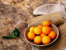 Delicious mandarin Stock Photography
