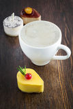 Delicious mango mini cake Royalty Free Stock Photo