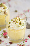 Delicious mango mousse Royalty Free Stock Images