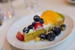 Delicious mango tart Stock Image