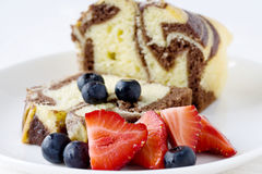 Delicious marble loaf cake Royalty Free Stock Photos