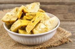 Delicious marinated artichoke Stock Images