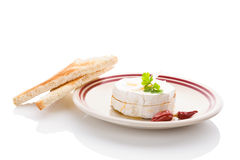 Delicious marinated camembert. Stock Images