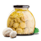 Marinated mushrooms Stock Image