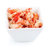 Delicious marinated shrimp in bowl Royalty Free Stock Photos