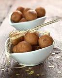 Delicious marzipan balls Stock Photography