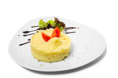 Delicious mashed potatoes. Royalty Free Stock Images