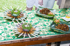 Delicious meal of Bali stock photography