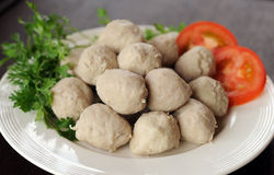 Delicious meat ball in plate Royalty Free Stock Image
