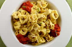 Delicious Meat Cappelletti Stock Photo