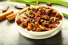 Heathy mutton curry with exotic spices. Indian cuisine