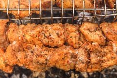 Delicious meat on the grill. Barbecue. Stock Image