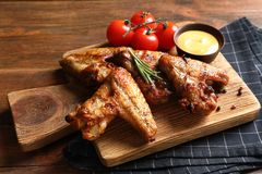 Delicious meat served for barbecued party royalty free stock images