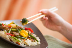 Delicious meat wok Royalty Free Stock Image
