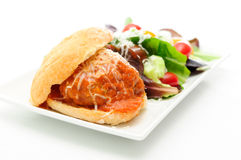Delicious meatball sliders Royalty Free Stock Images