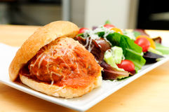 Delicious meatball sliders Stock Photo