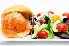 Delicious meatball sliders Stock Photos
