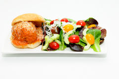 Delicious meatball sliders Stock Photography