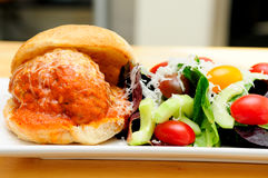 Delicious meatball sliders Royalty Free Stock Photos