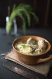 Delicious meatballs with dill sauce Royalty Free Stock Photography