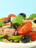 Delicious mediterranean salad for breakfast Royalty Free Stock Image
