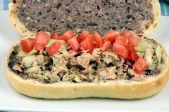 Delicious mediterranean tuna sandwich Stock Image