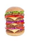 Delicious mega hamburger Royalty Free Stock Photos