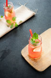 Delicious melon and lime drink Royalty Free Stock Photos