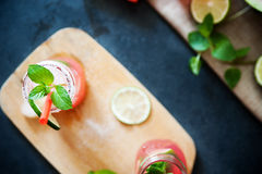 Delicious melon and lime drink Stock Images