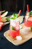 Delicious melon and lime drink Stock Image