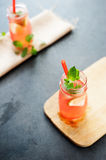 Delicious melon and lime drink Royalty Free Stock Photo