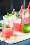 Delicious melon and lime drink Stock Photography