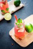 Delicious melon and lime drink Royalty Free Stock Images