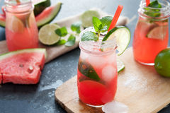 Delicious melon and lime drink Stock Photo
