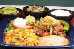 Delicious mexican beef plate Stock Photos